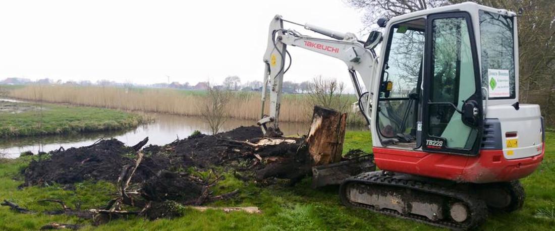 Verwijderen van boom stobben